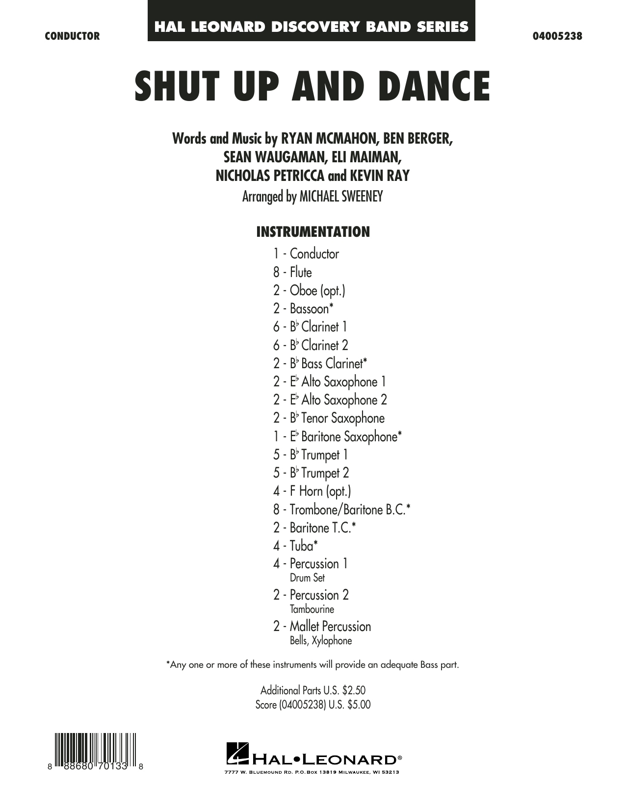 Shut Up and Dance - Conductor Score (Full Score) (Concert Band)