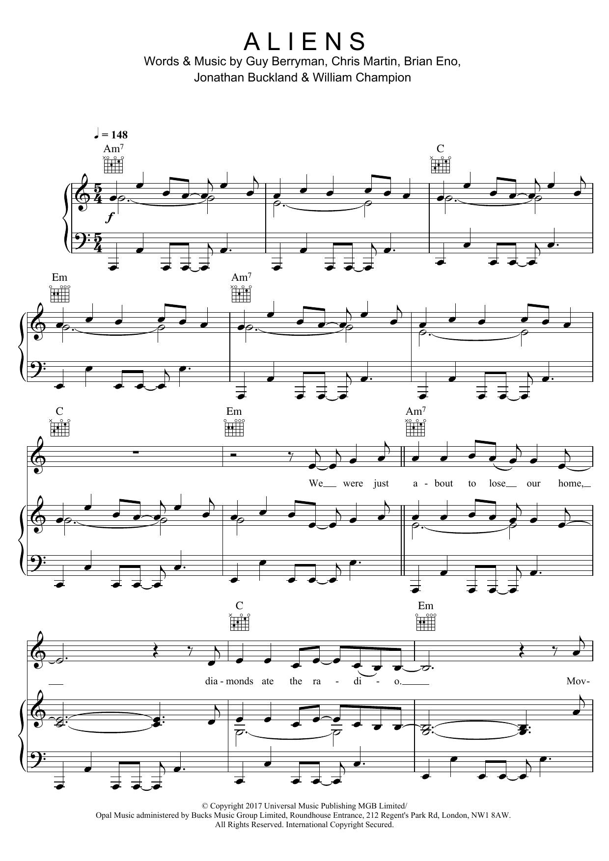 A L I E N S (Piano, Vocal & Guitar)