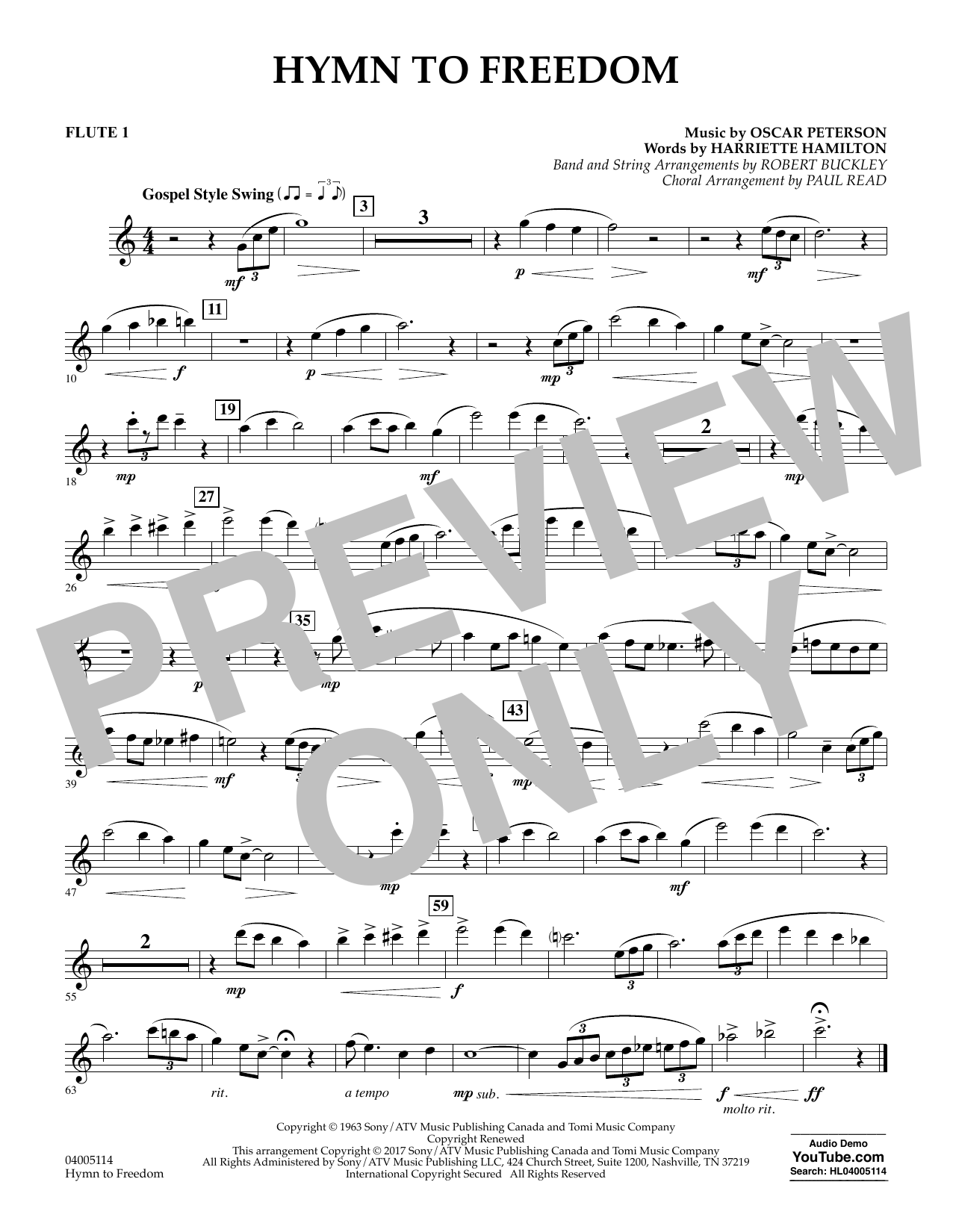 Hymn to Freedom - Flute 1 (Flex-Band)