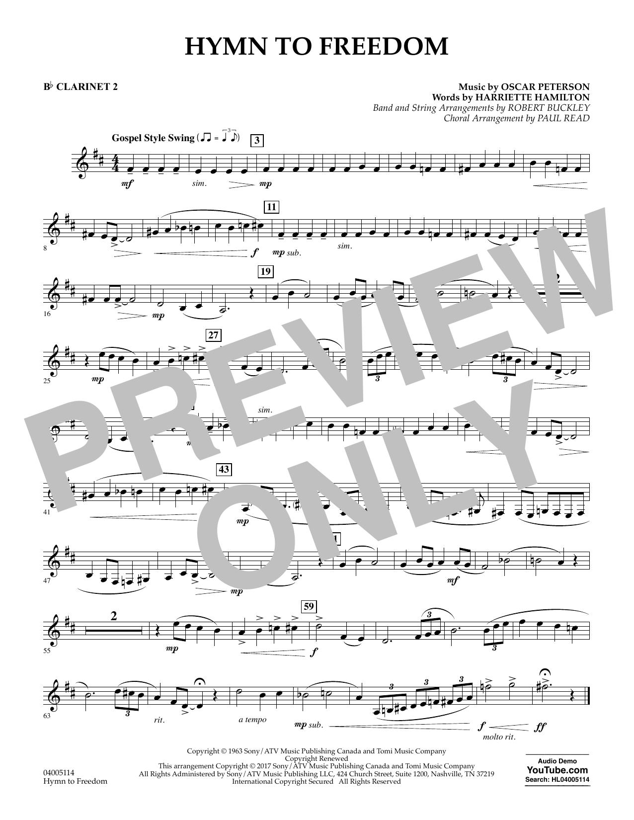 Hymn to Freedom - Bb Clarinet 2 (Flex-Band)
