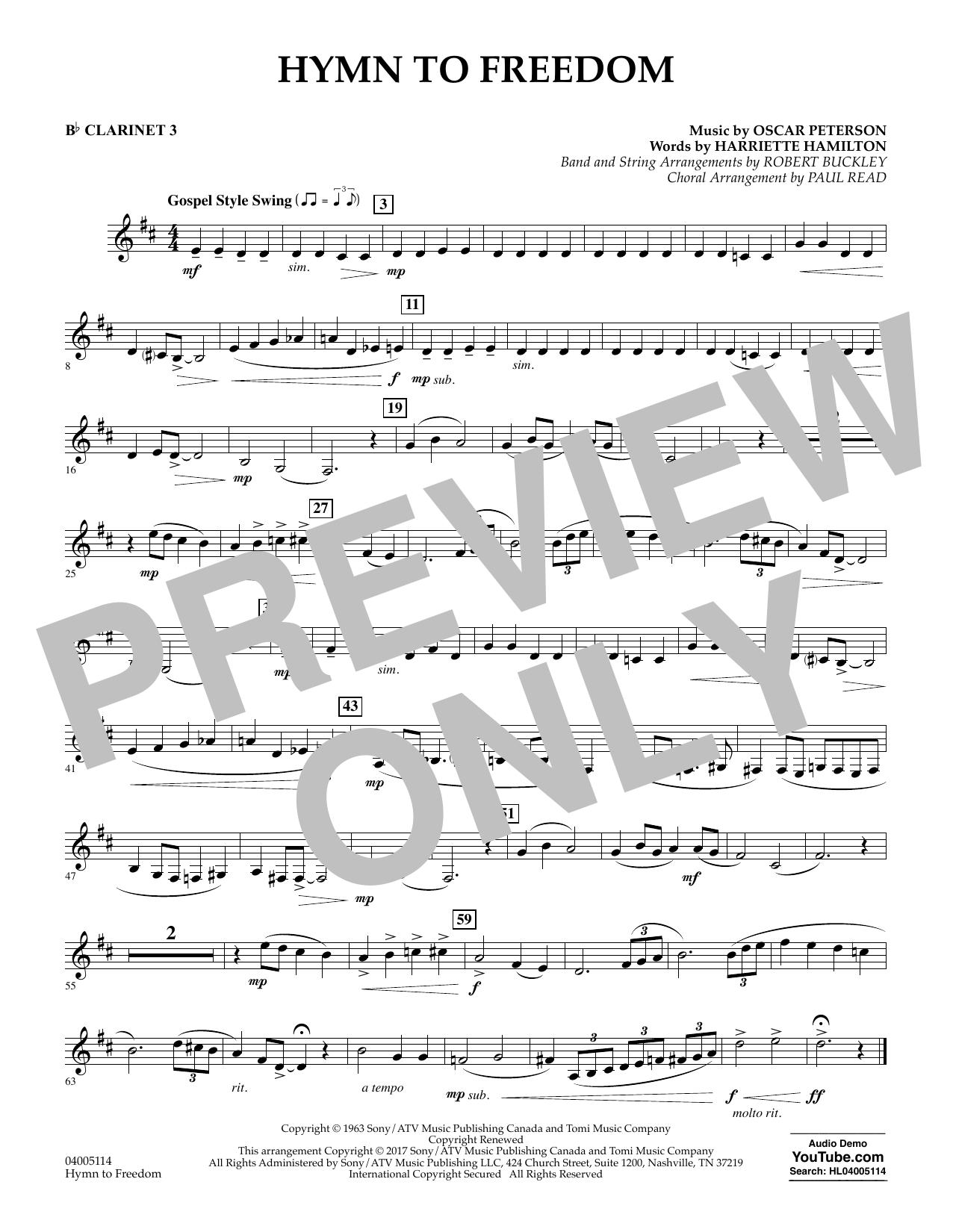 Hymn to Freedom - Bb Clarinet 3 (Flex-Band)