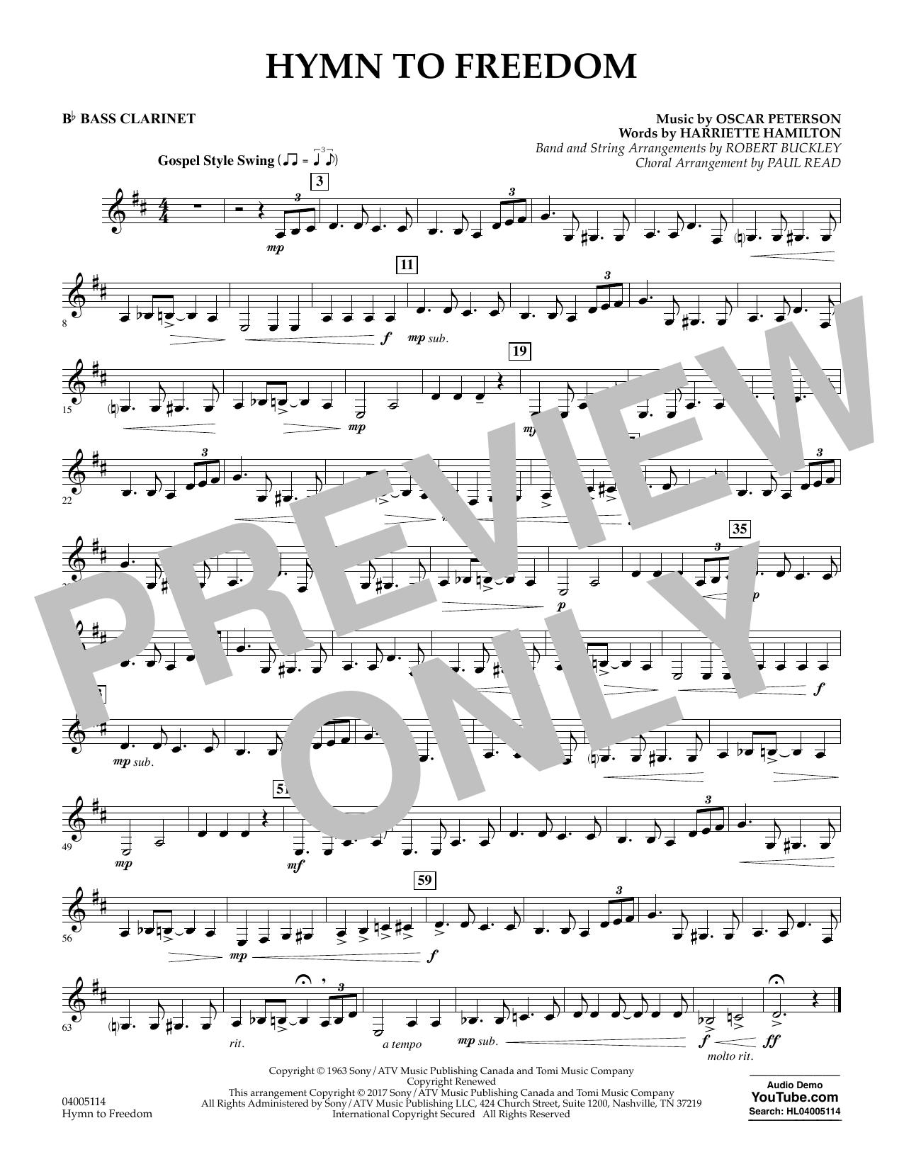 Hymn to Freedom - Bb Bass Clarinet (Flex-Band)