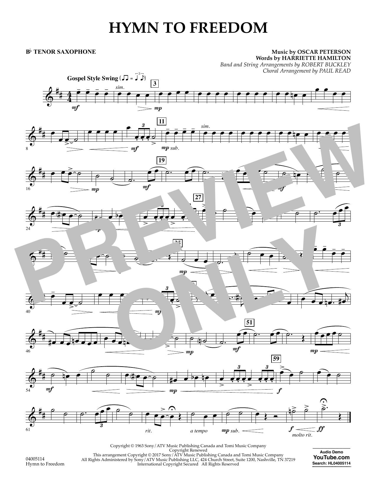 Hymn to Freedom - Bb Tenor Saxophone (Flex-Band)