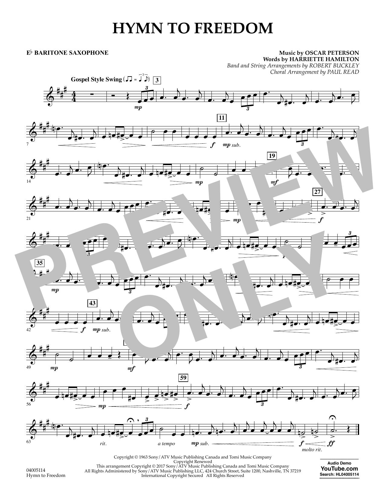 Hymn to Freedom - Eb Baritone Saxophone (Flex-Band)