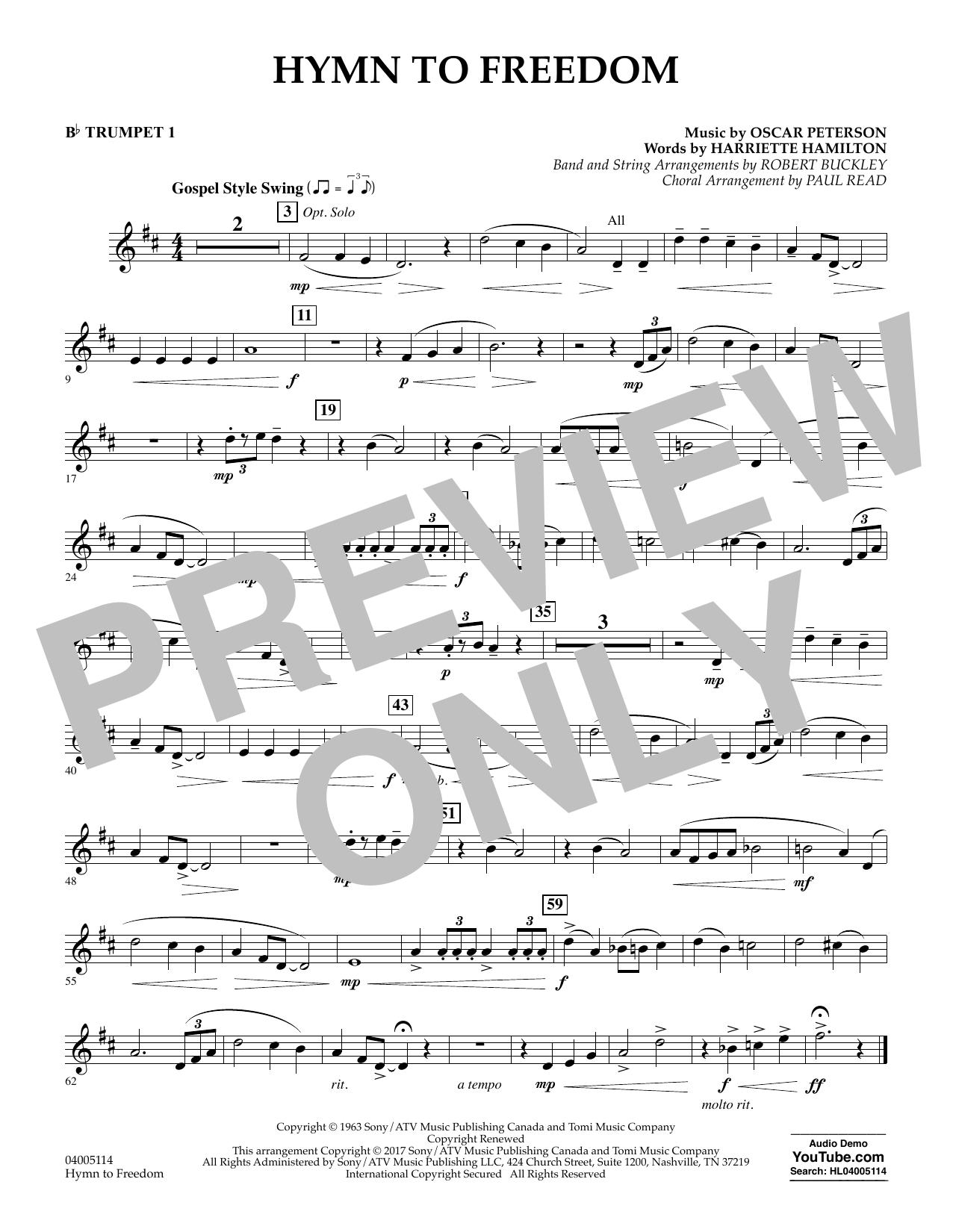 Hymn to Freedom - Bb Trumpet 1 (Flex-Band)