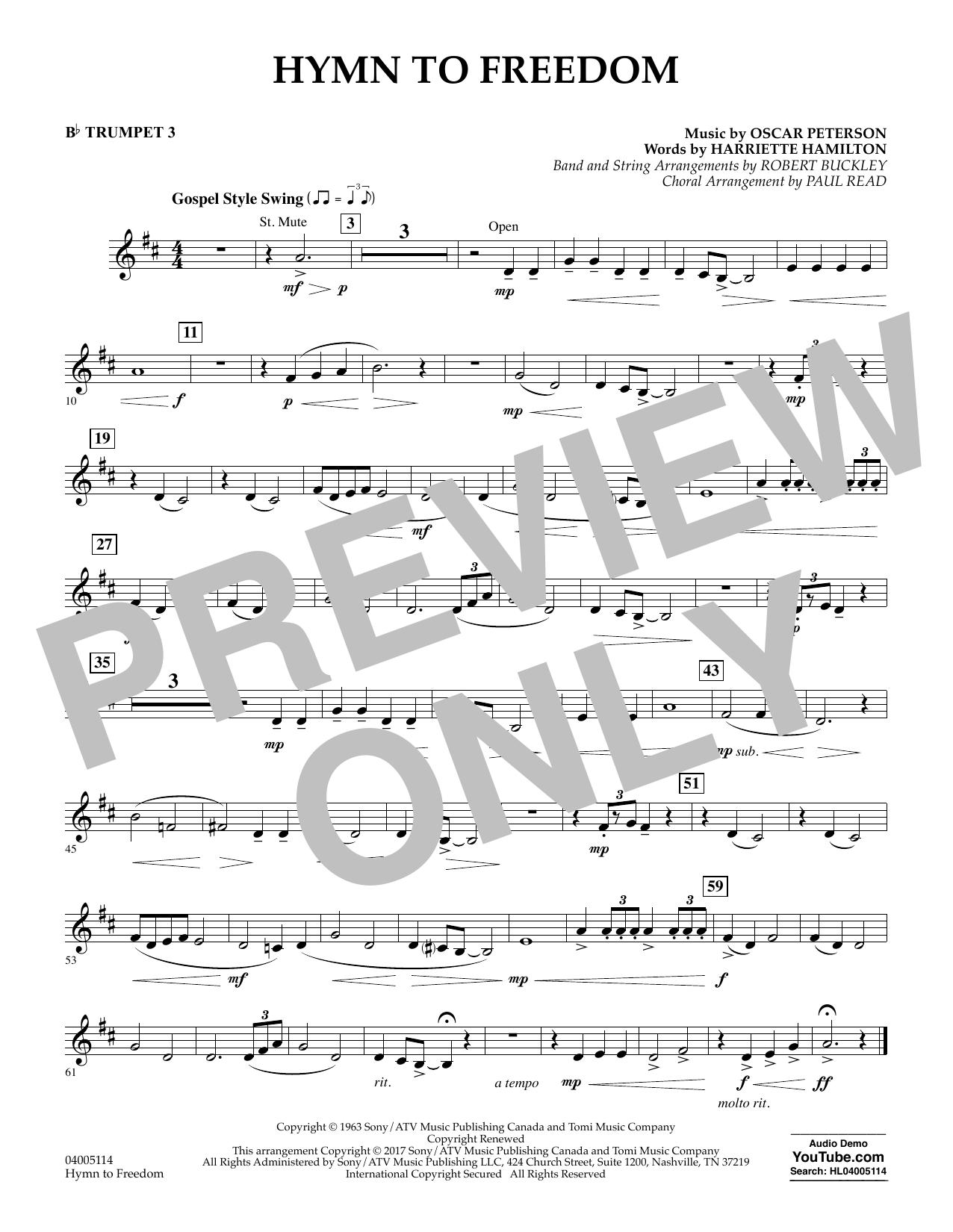 Hymn to Freedom - Bb Trumpet 3 (Flex-Band)