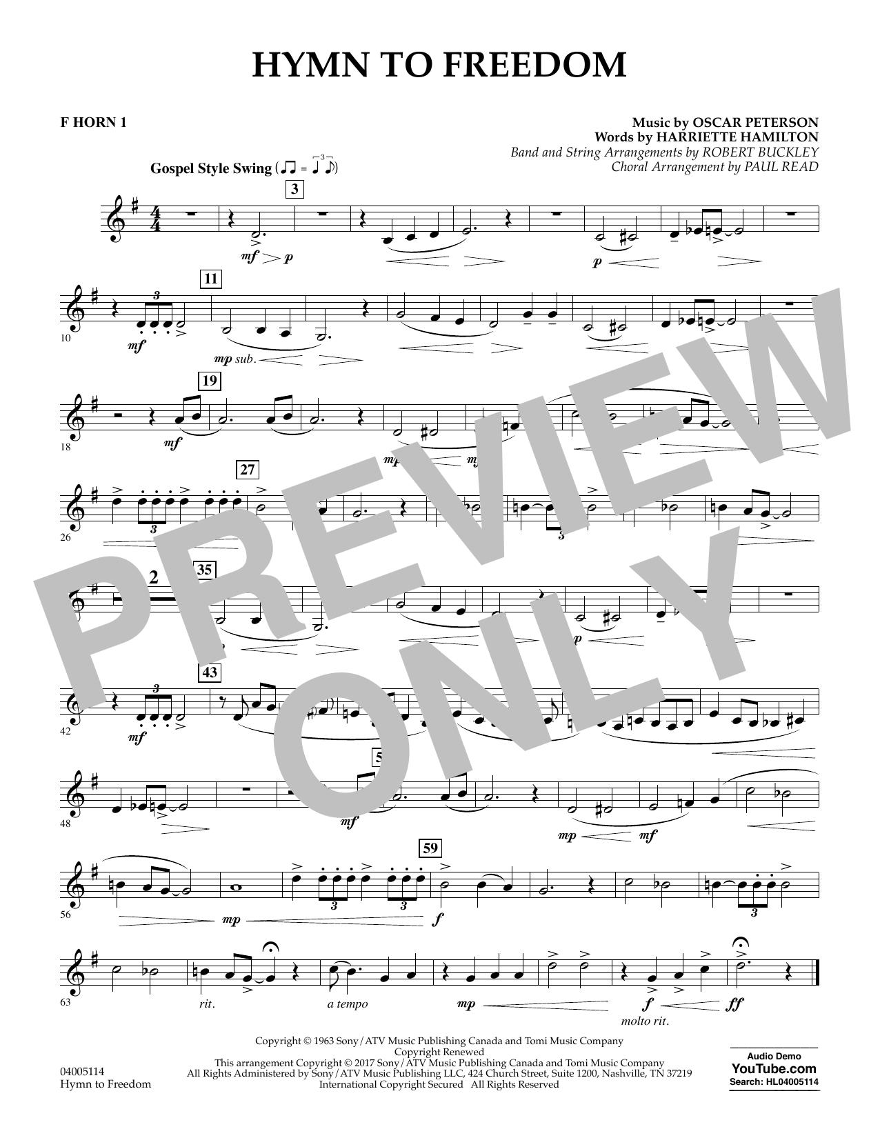 Hymn to Freedom - F Horn 1 (Flex-Band)