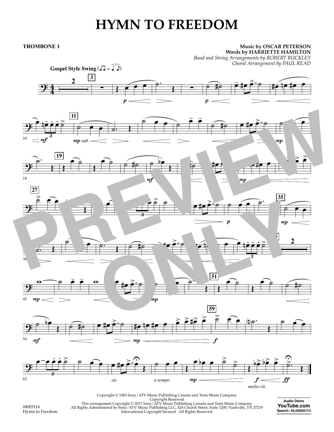 Hymn to Freedom - Trombone 1 (Flex-Band)
