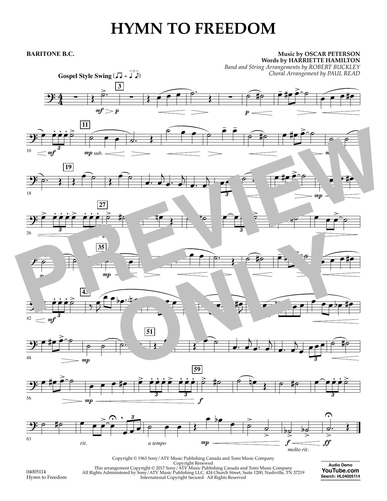 Hymn to Freedom - Baritone B.C. (Flex-Band)