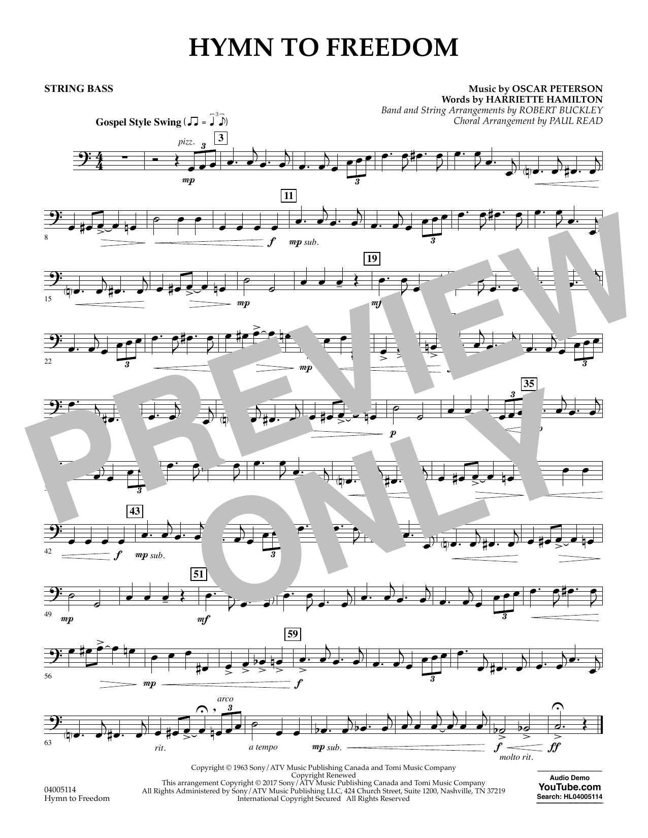 Hymn to Freedom - String Bass (Flex-Band)