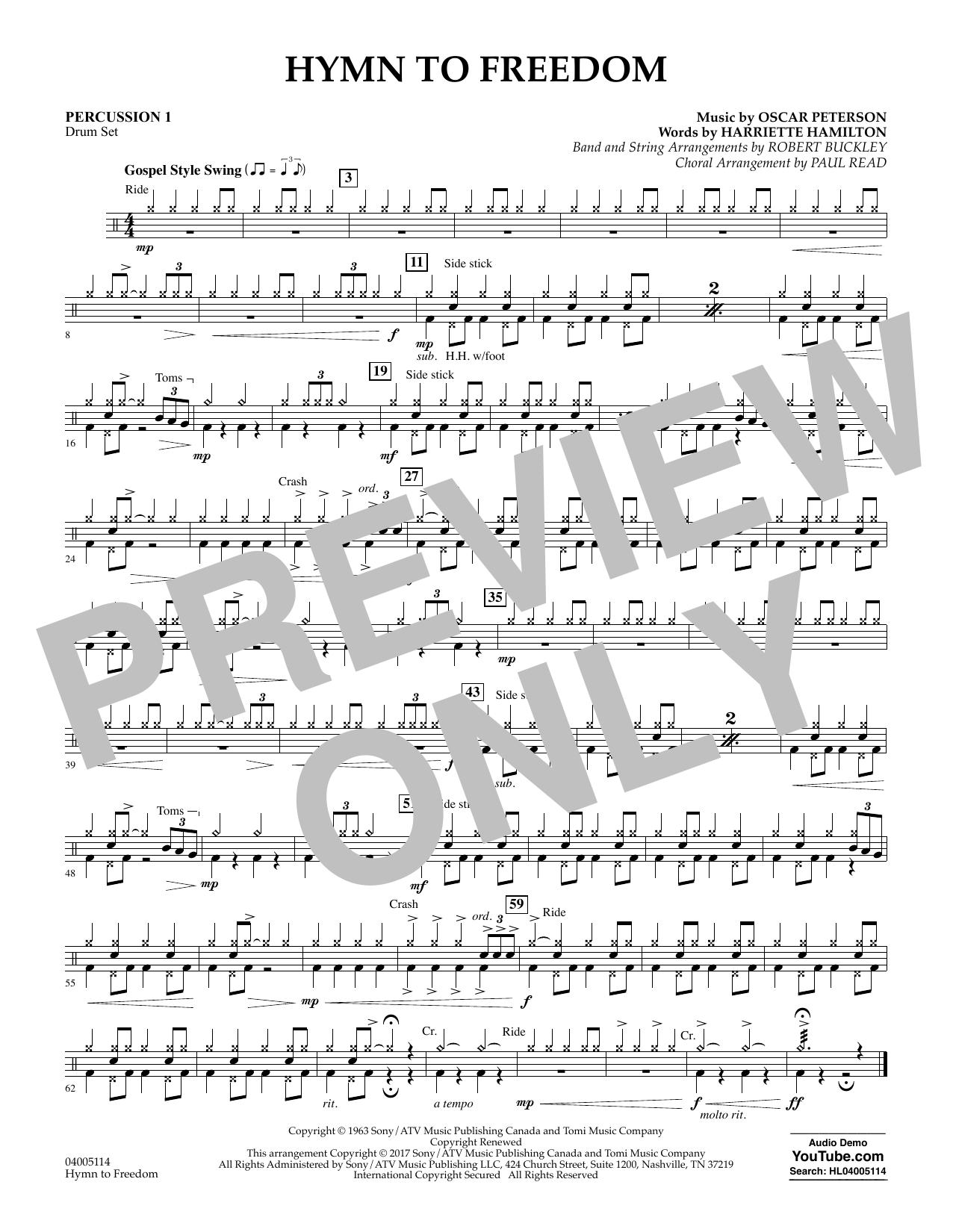 Hymn to Freedom - Percussion 1 (Flex-Band)