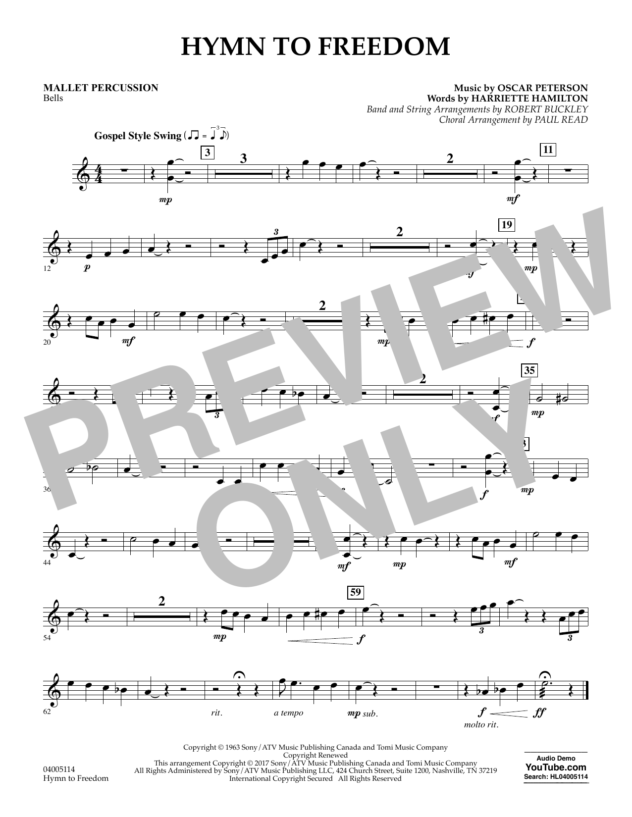 Hymn to Freedom - Mallet Percussion (Flex-Band)