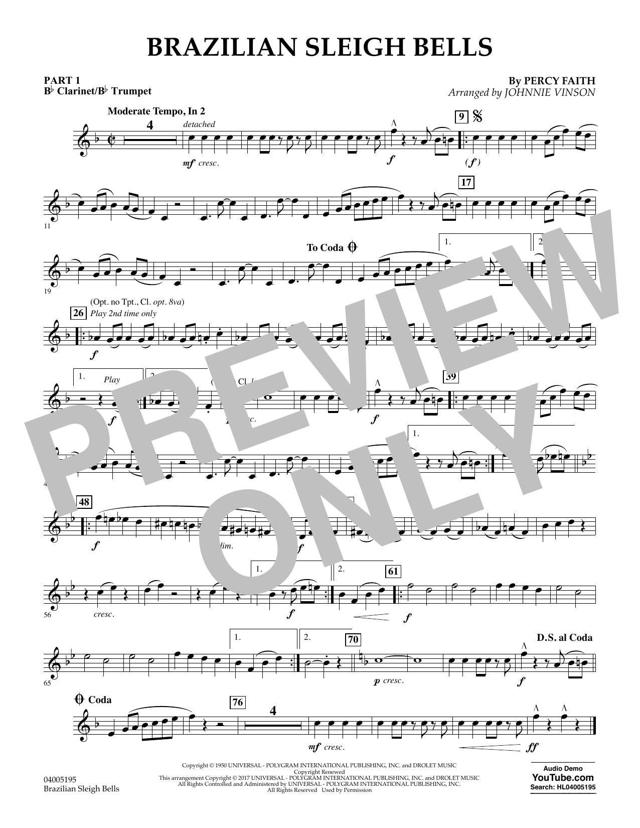 Brazilian Sleigh Bells - Pt.1 - Bb Clarinet/Bb Trumpet (Flex-Band)
