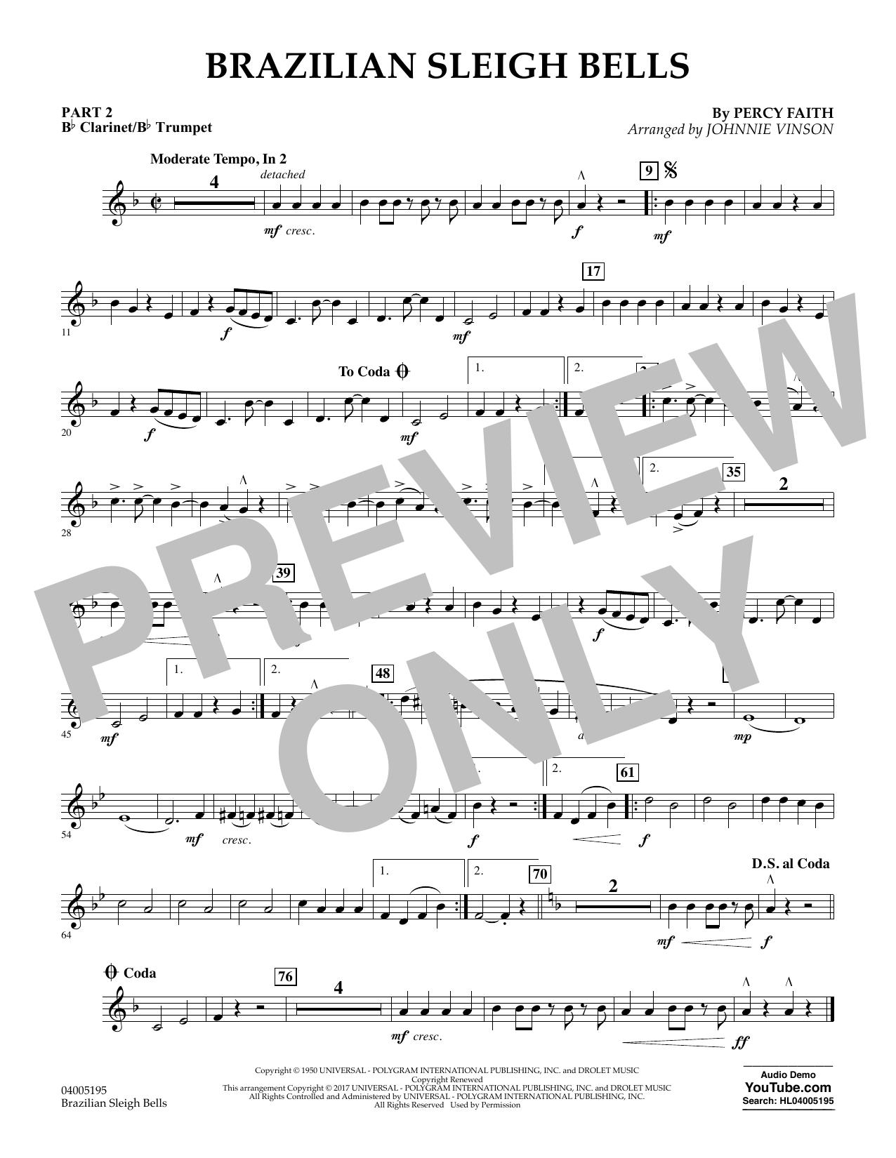 Brazilian Sleigh Bells - Pt.2 - Bb Clarinet/Bb Trumpet (Flex-Band)