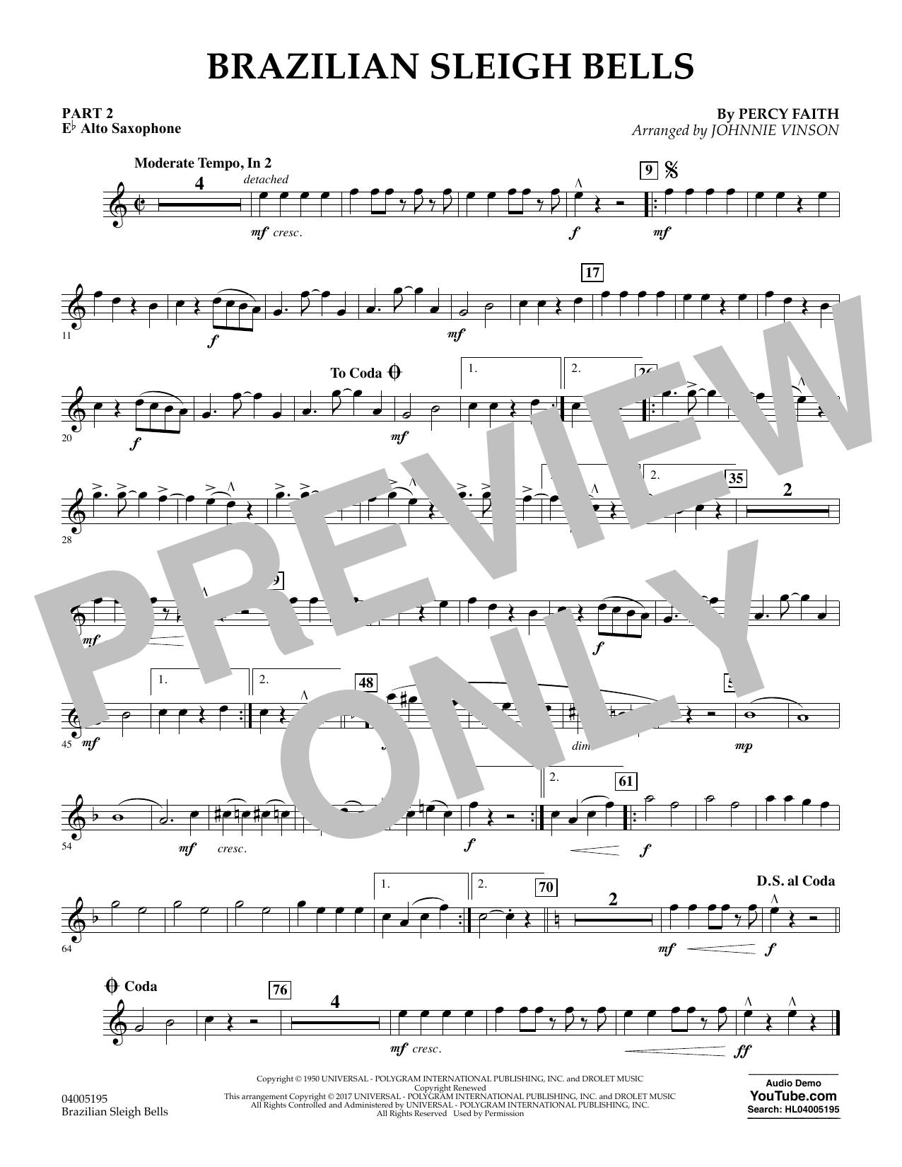 Brazilian Sleigh Bells - Pt.2 - Eb Alto Saxophone (Flex-Band)
