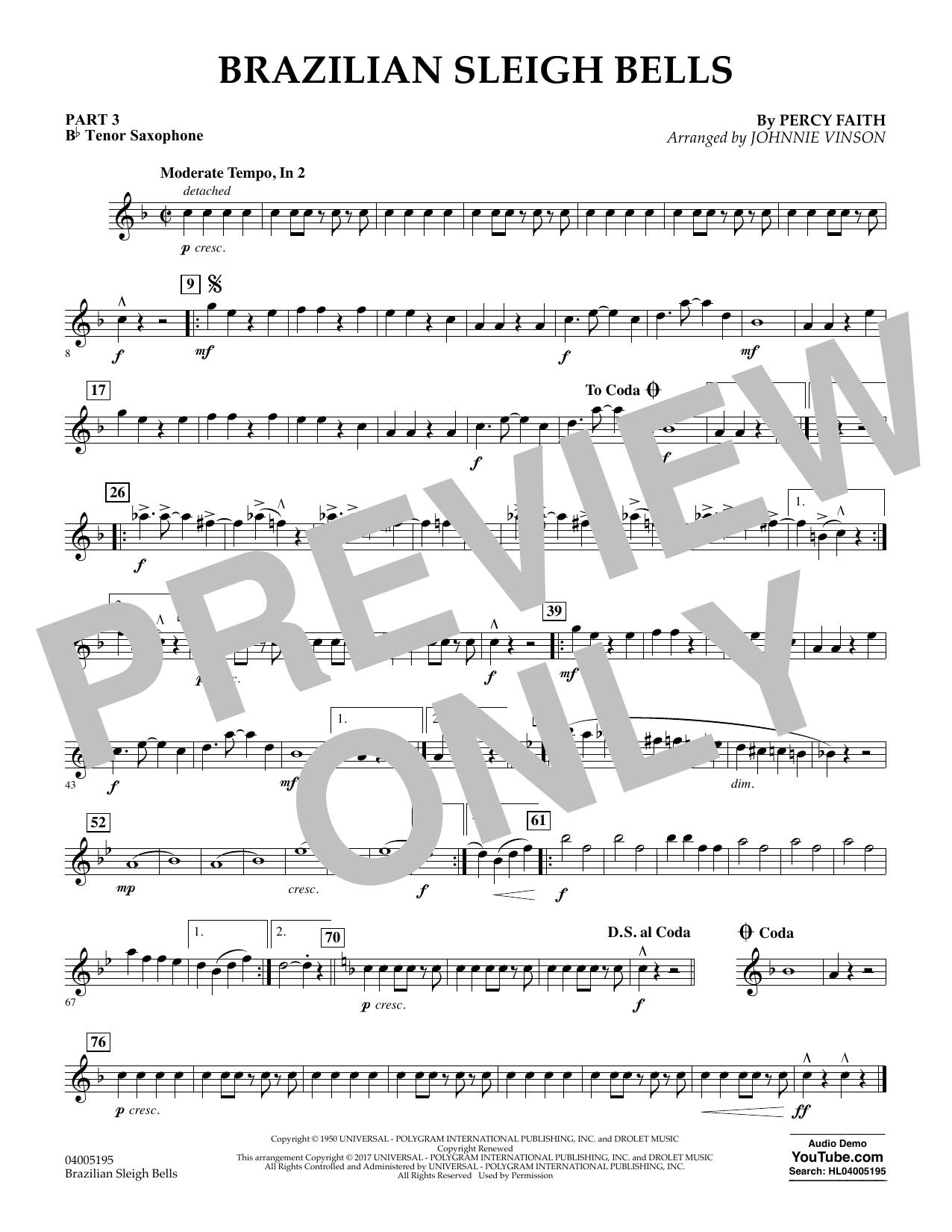 Brazilian Sleigh Bells - Pt.3 - Bb Tenor Saxophone (Flex-Band)
