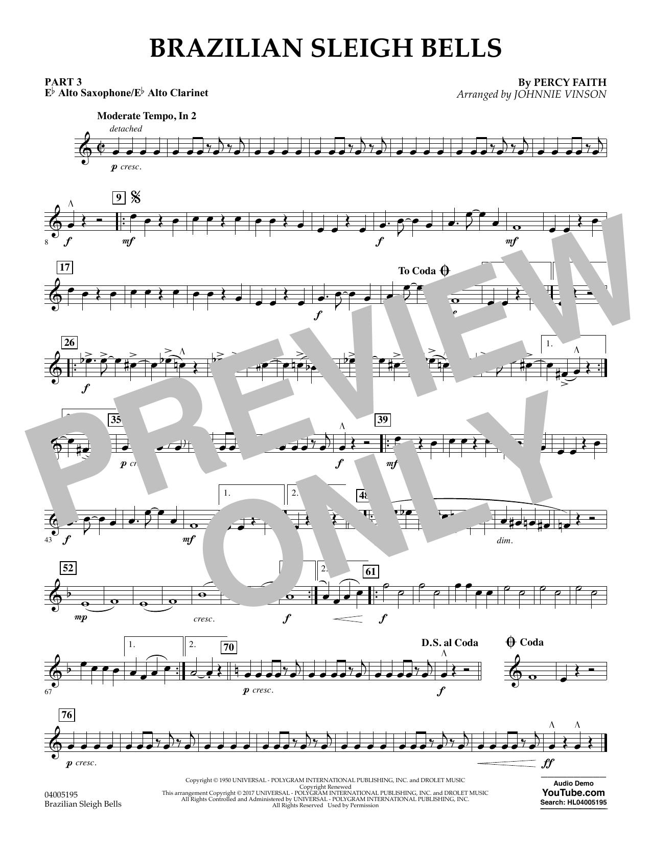 Brazilian Sleigh Bells - Pt.3 - Eb Alto Sax/Alto Clar. (Flex-Band)