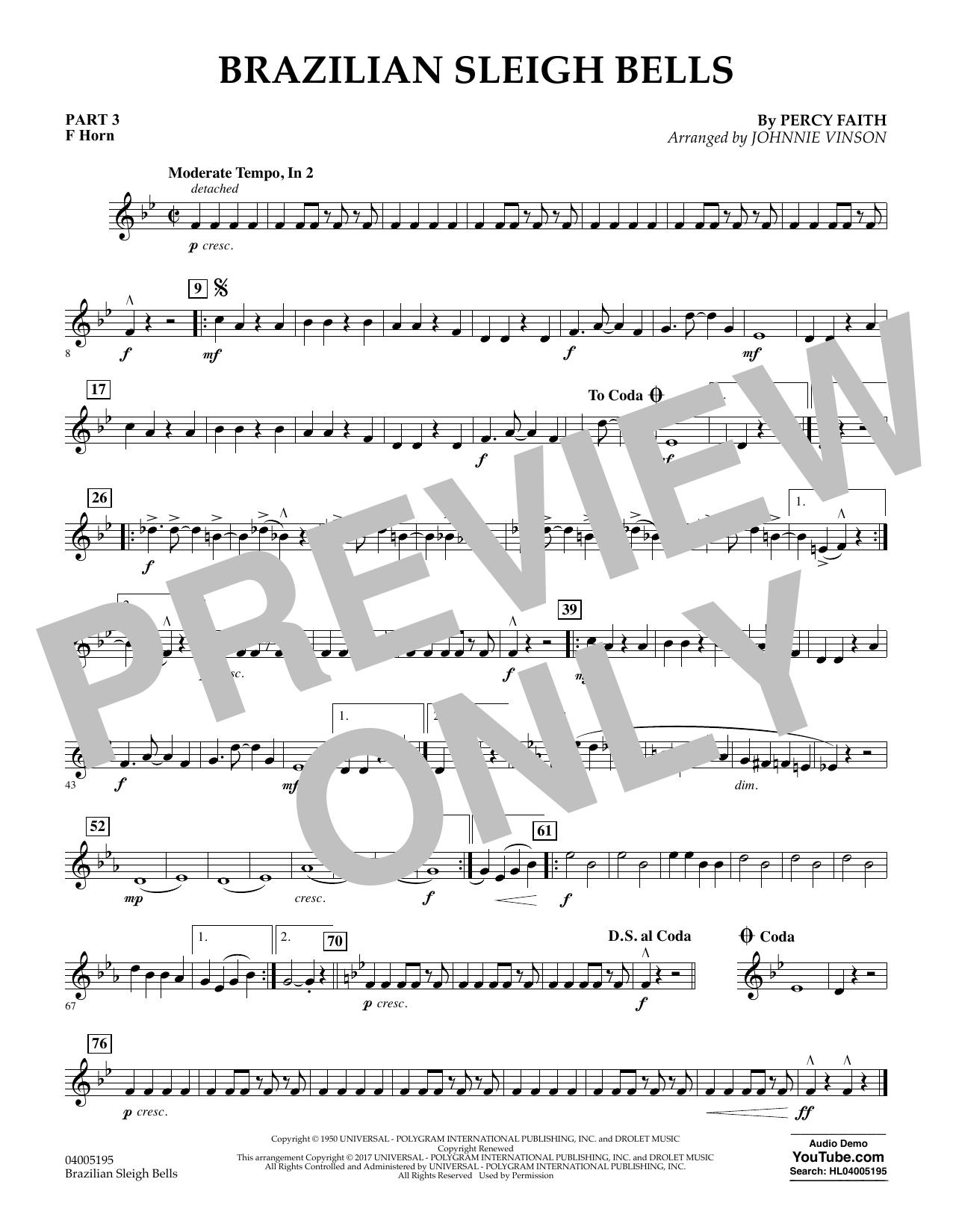 Brazilian Sleigh Bells - Pt.3 - F Horn (Flex-Band)