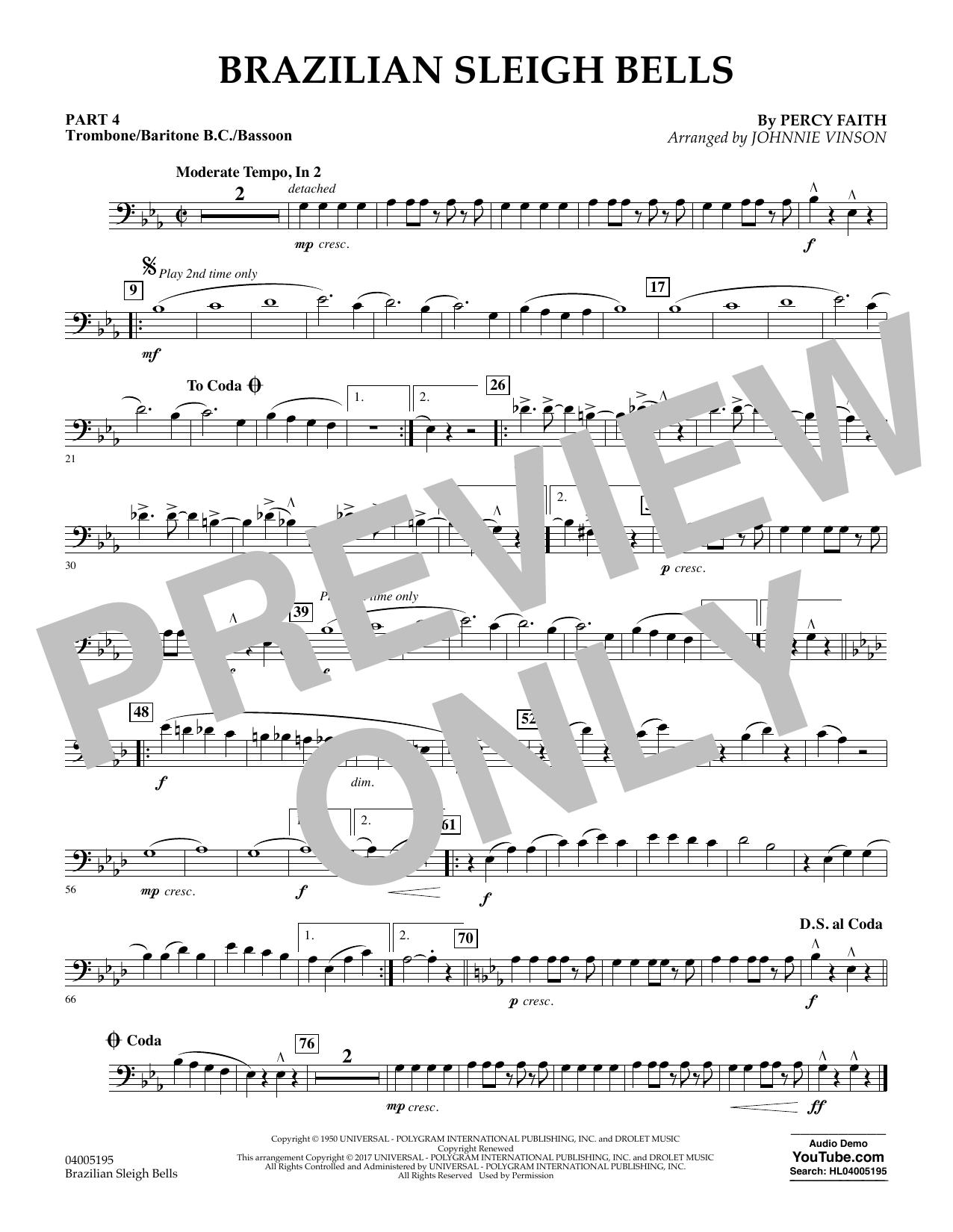 Brazilian Sleigh Bells - Pt.4 - Trombone/Bar. B.C./Bsn. (Flex-Band)