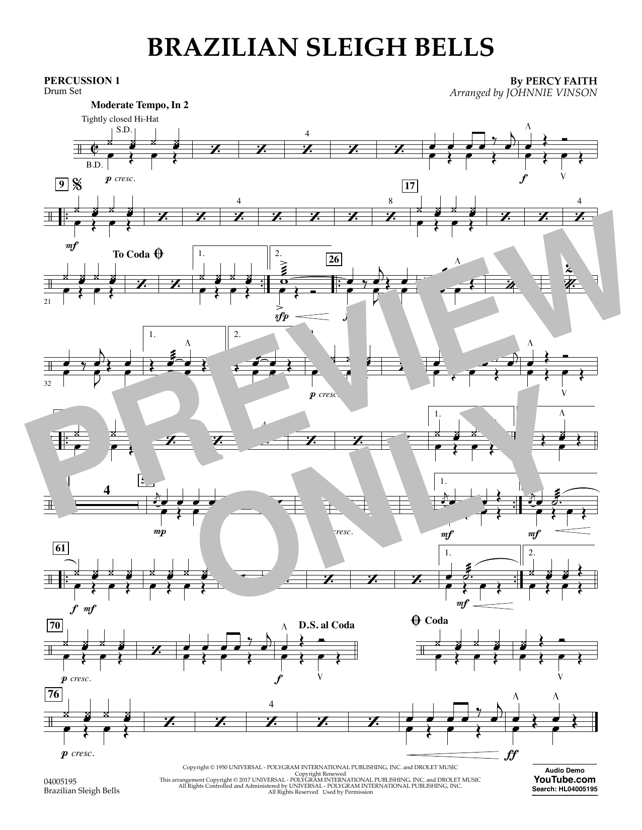 Brazilian Sleigh Bells - Percussion 1 (Flex-Band)