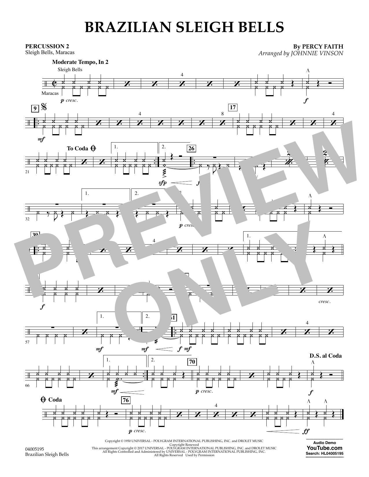 Brazilian Sleigh Bells - Percussion 2 (Flex-Band)