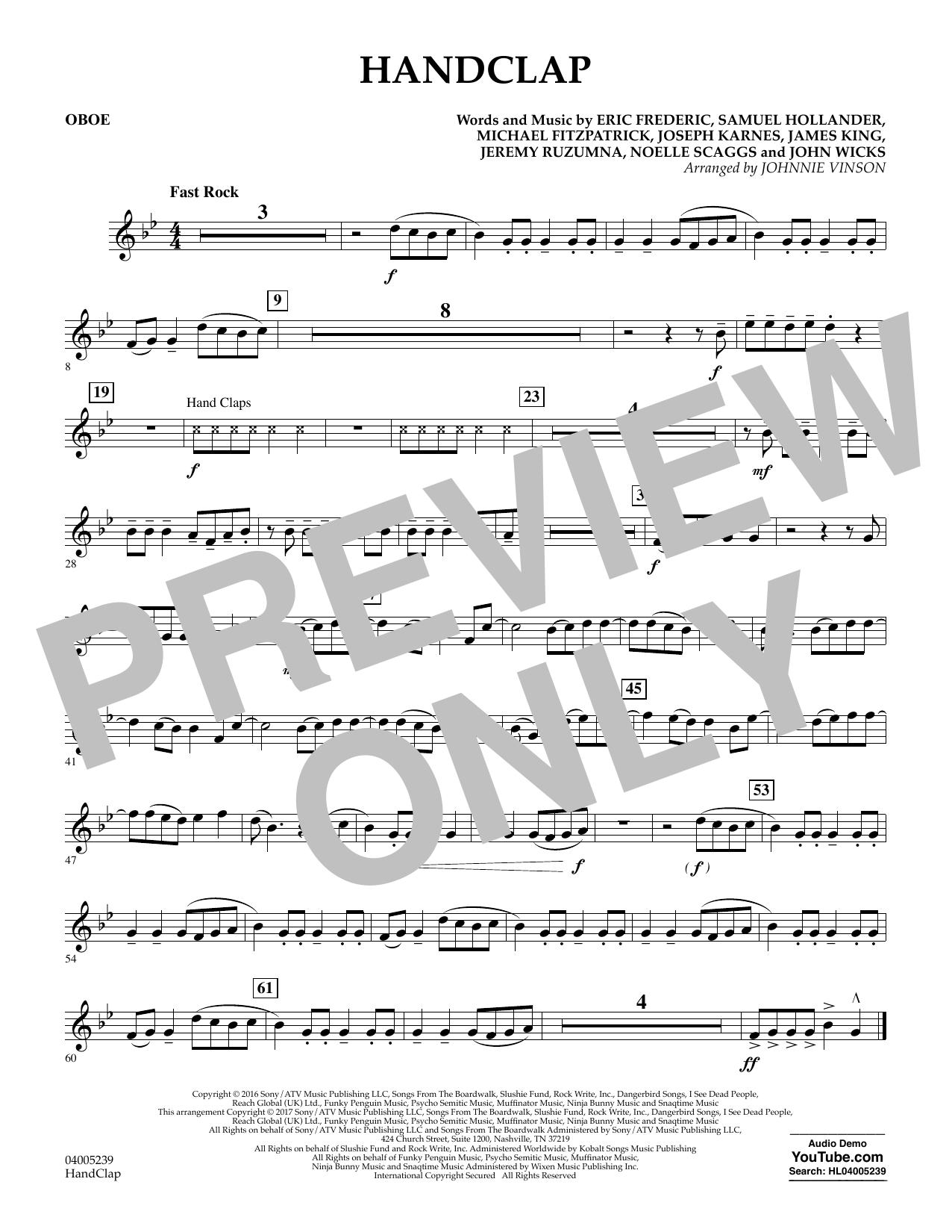 HandClap - Oboe (Concert Band)