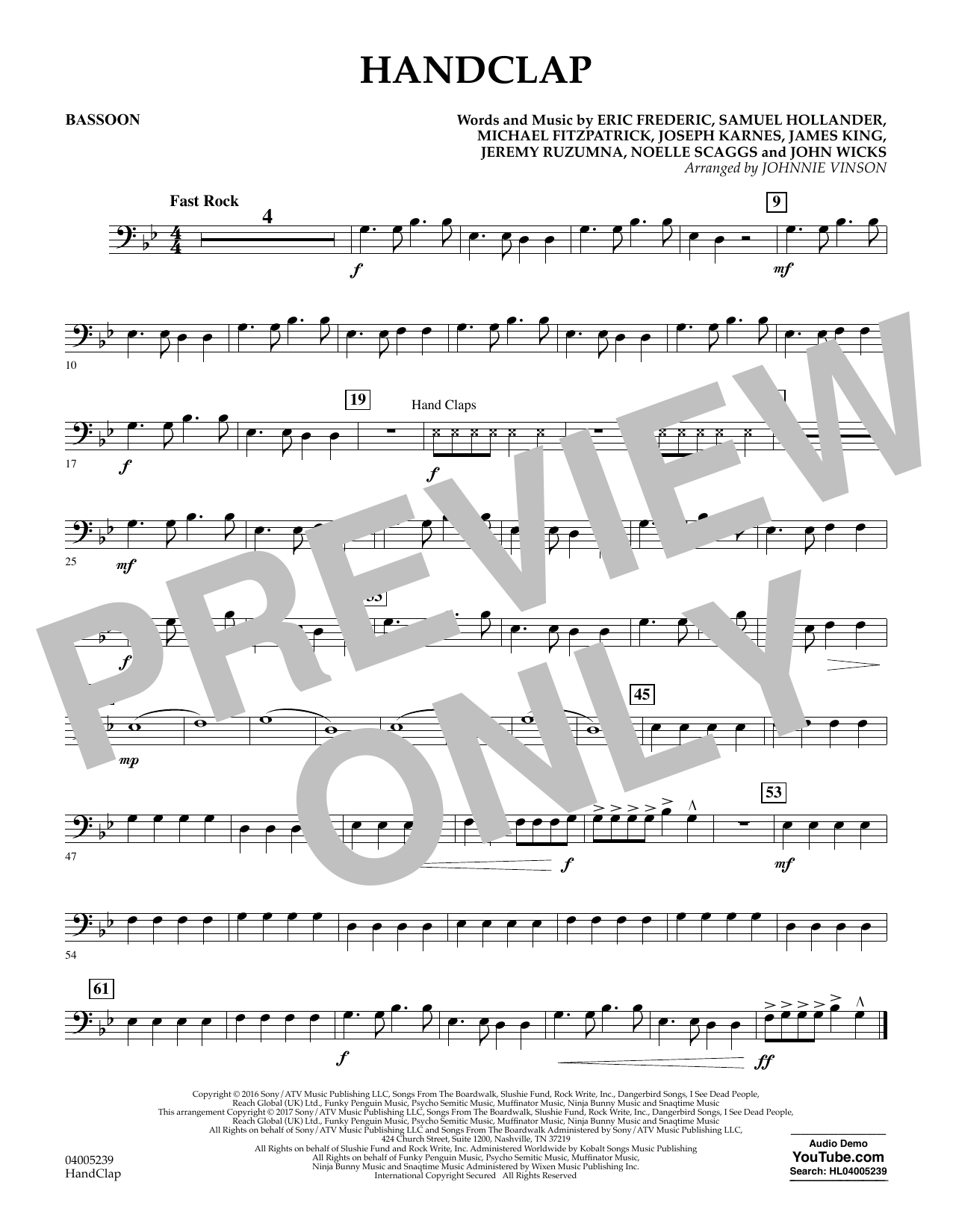 HandClap - Bassoon (Concert Band)
