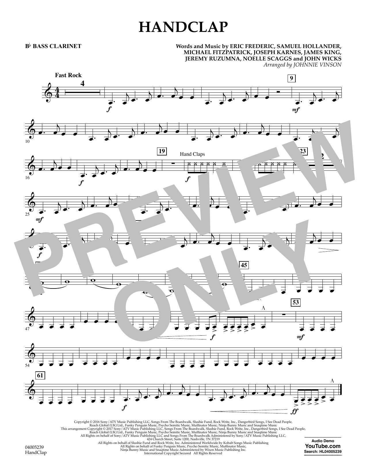 HandClap - Bb Bass Clarinet (Concert Band)