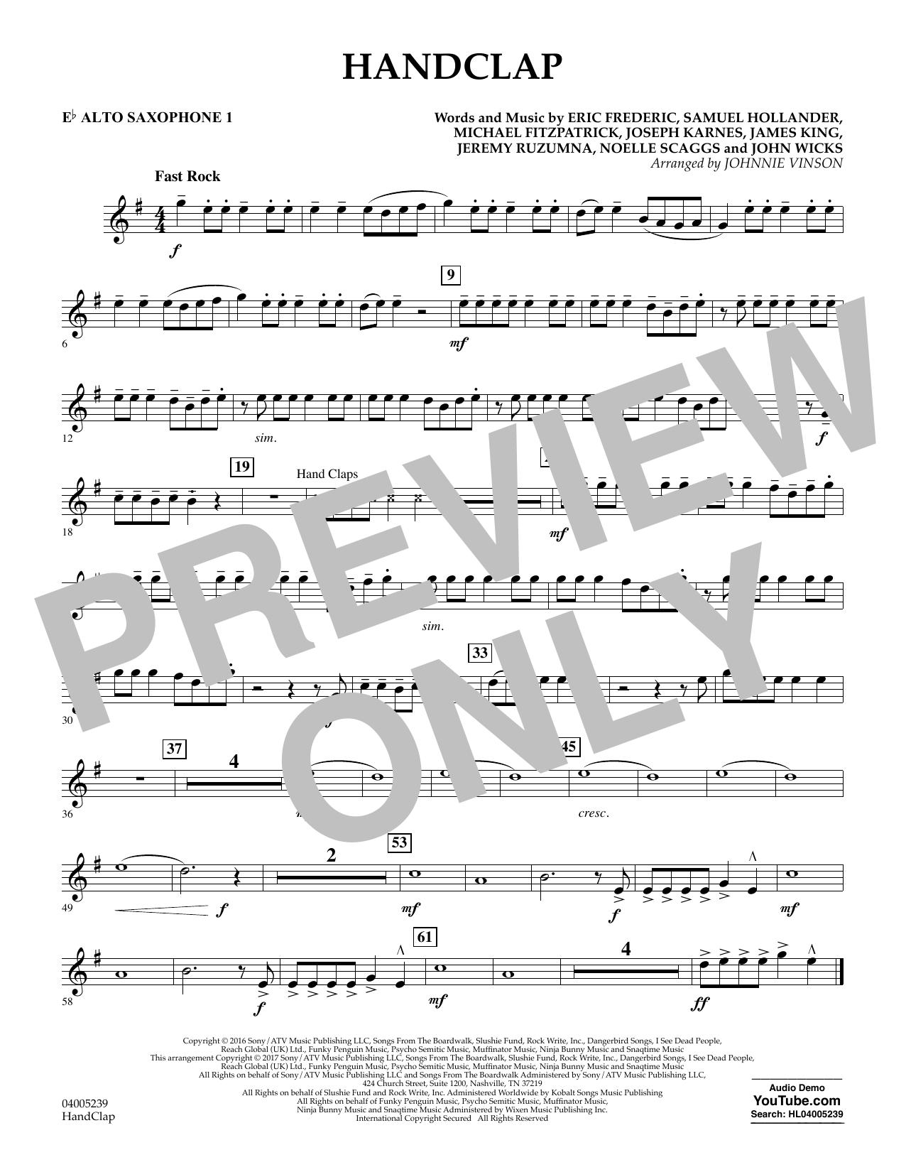HandClap - Eb Alto Saxophone 1 (Concert Band)