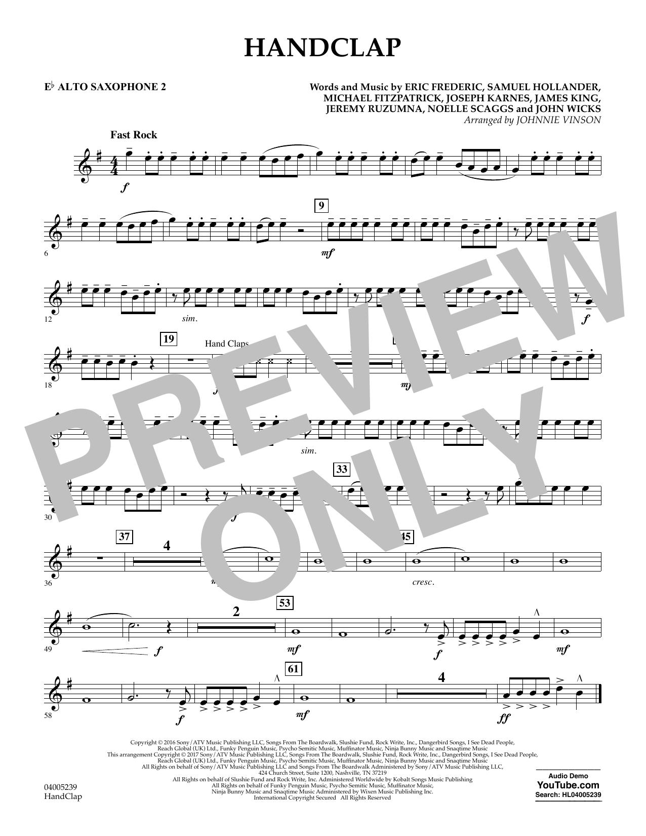 HandClap - Eb Alto Saxophone 2 (Concert Band)