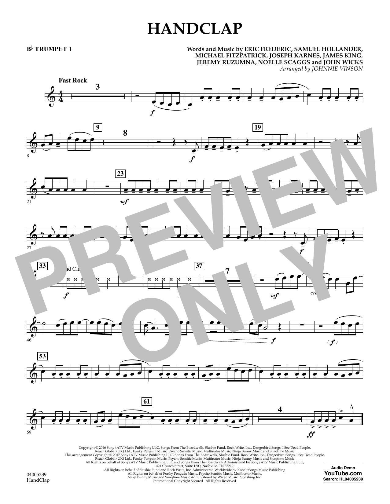 HandClap - Bb Trumpet 1 (Concert Band)