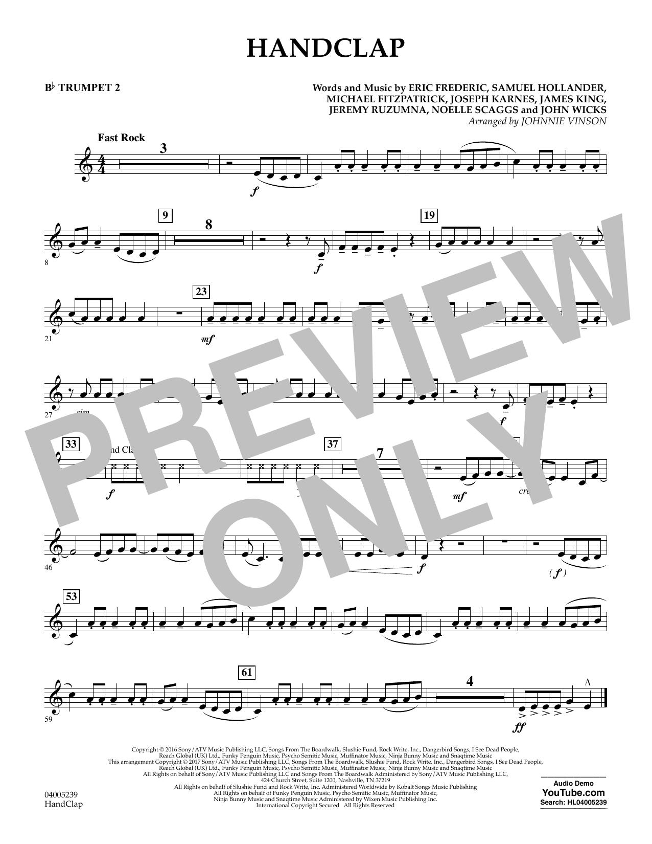 HandClap - Bb Trumpet 2 (Concert Band)