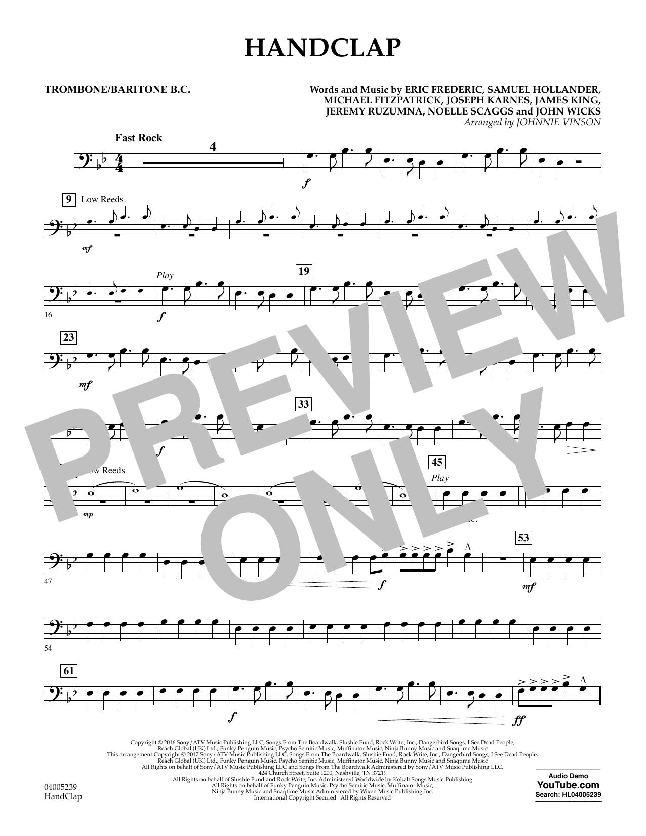 HandClap - Trombone/Baritone B.C. (Concert Band)