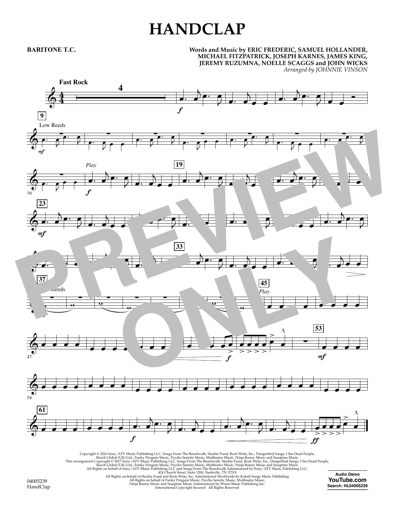 HandClap - Baritone T.C. (Concert Band)