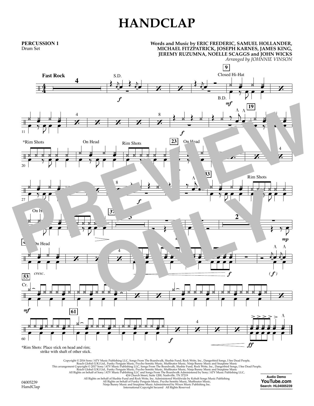 HandClap - Percussion 1 (Concert Band)