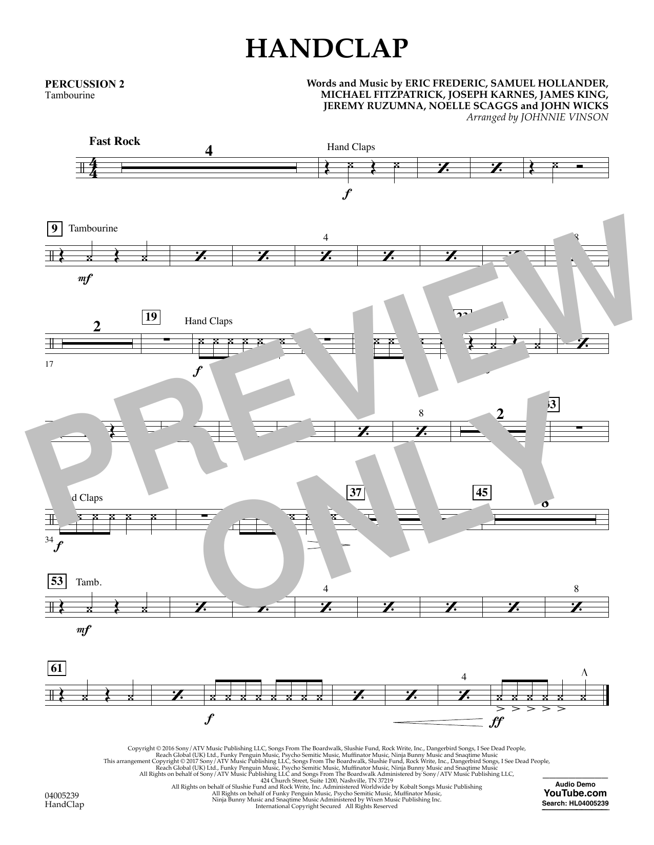 HandClap - Percussion 2 Sheet Music