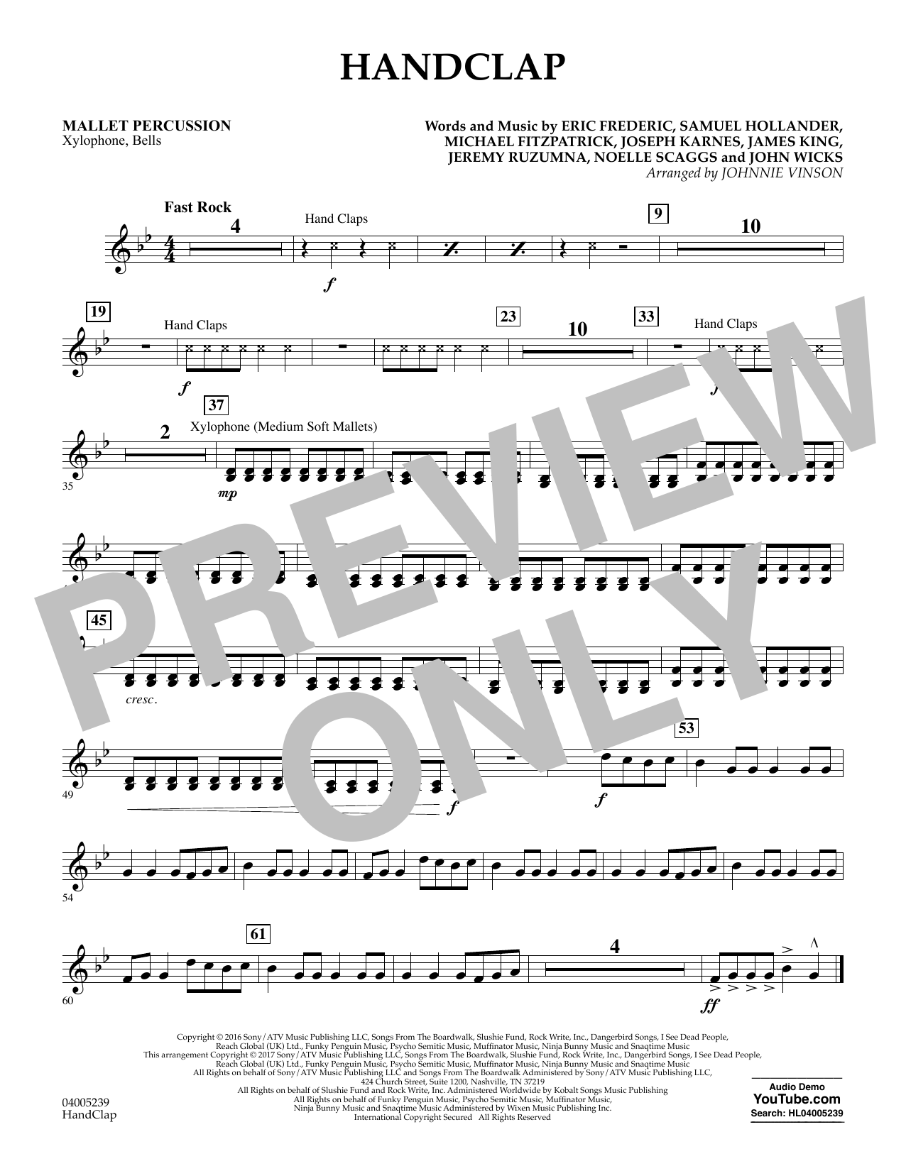 HandClap - Mallet Percussion (Concert Band)