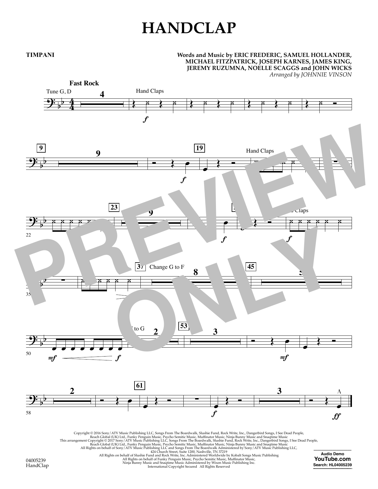 HandClap - Timpani (Concert Band)
