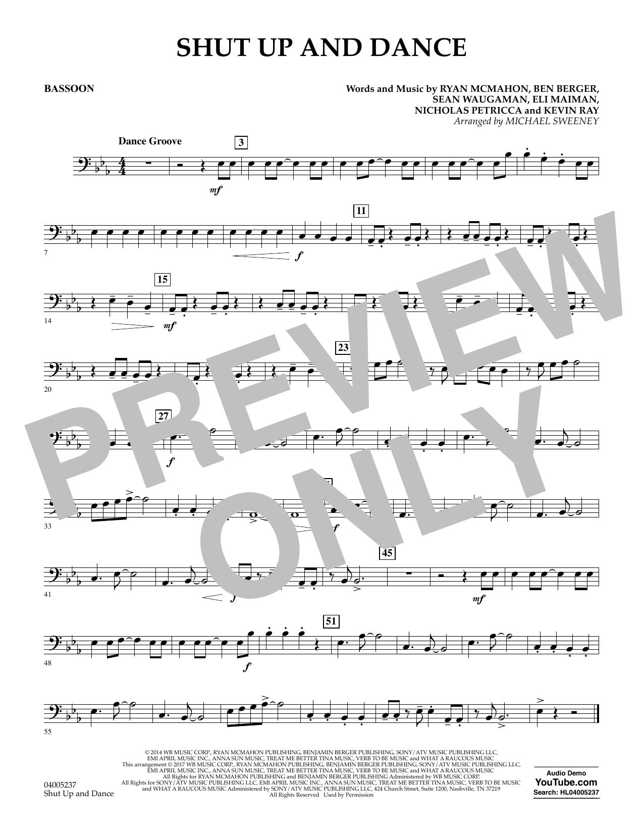Shut Up and Dance - Bassoon (Concert Band)