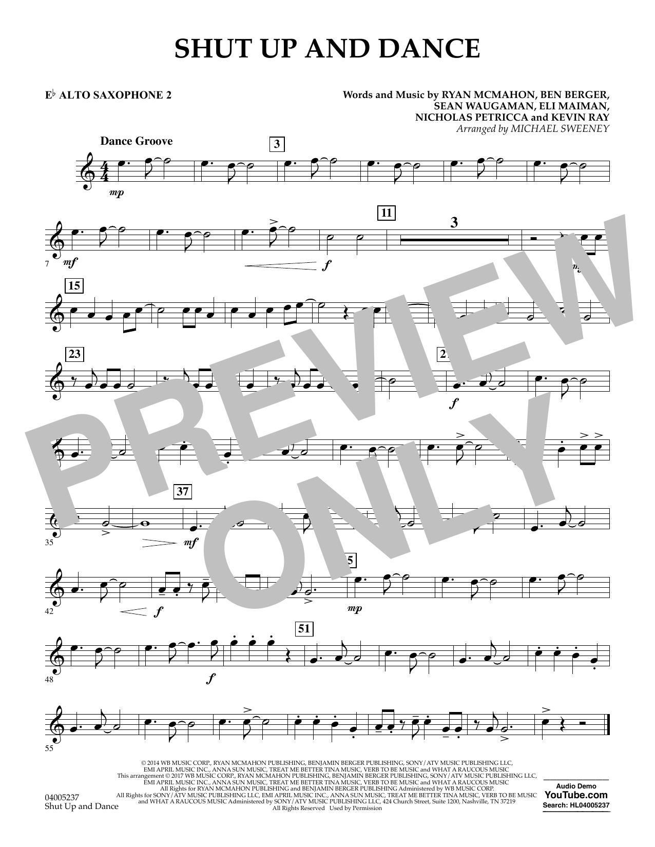 Shut Up and Dance - Eb Alto Saxophone 2 (Concert Band)