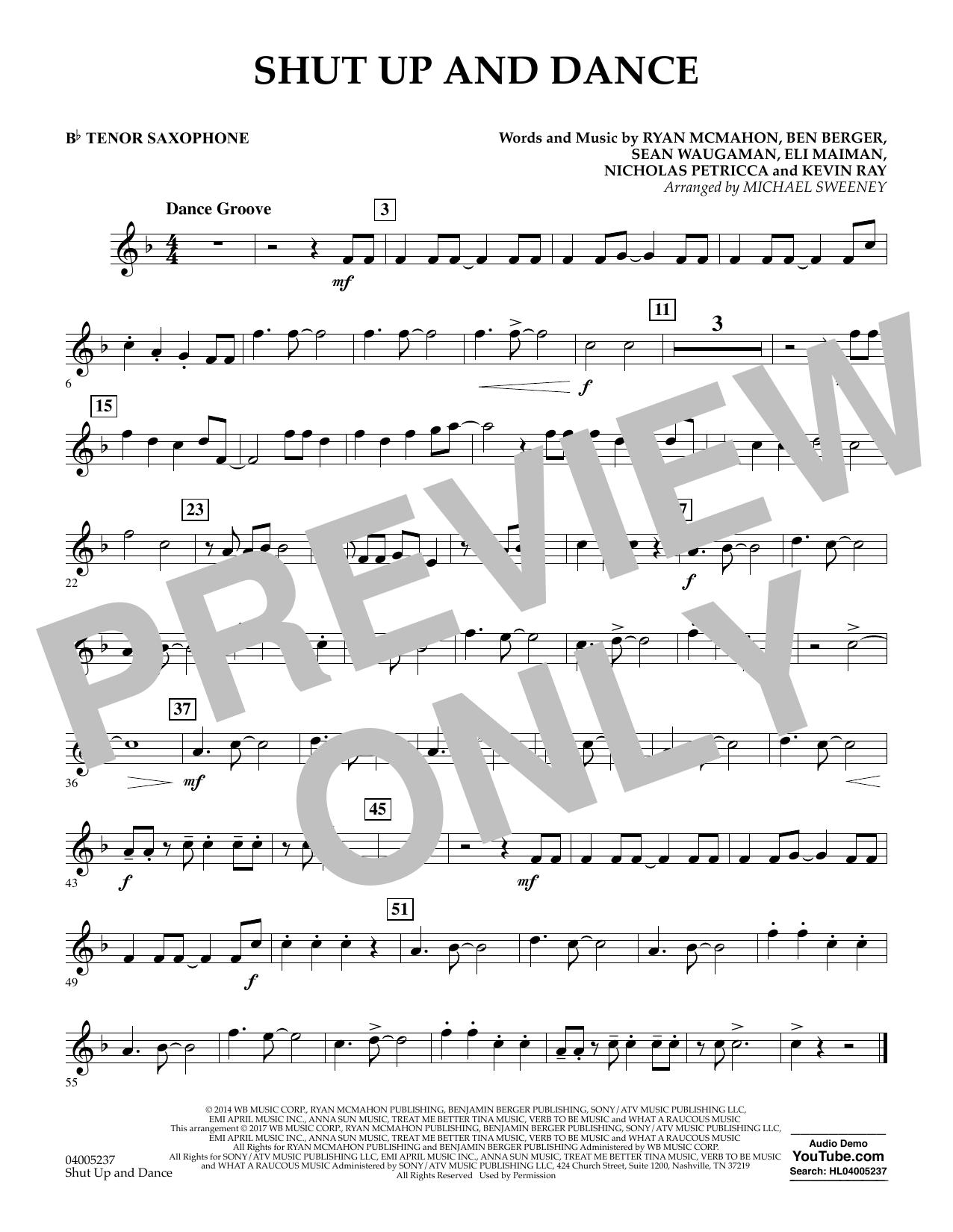 Shut Up and Dance - Bb Tenor Saxophone (Concert Band)