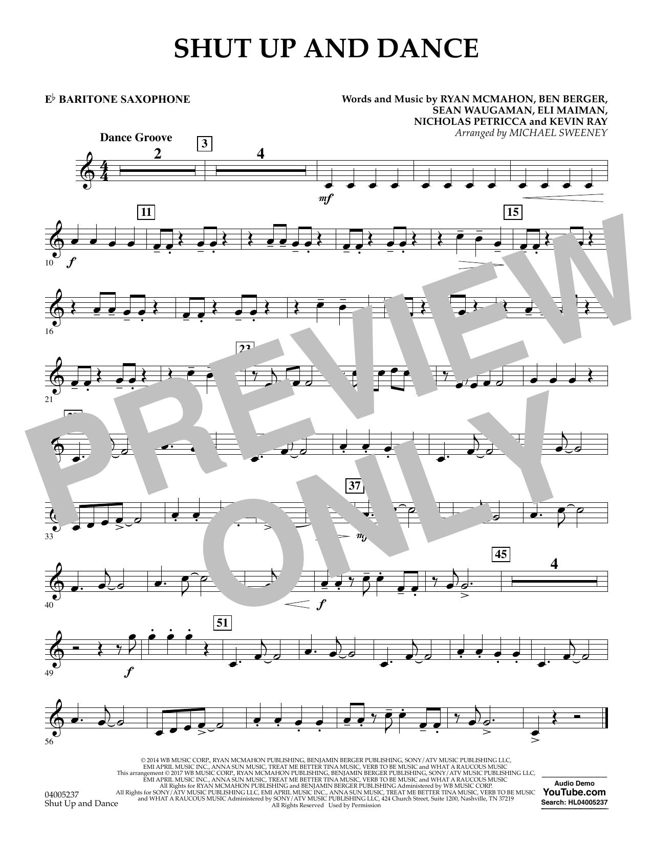 Shut Up and Dance - Eb Baritone Saxophone (Concert Band)