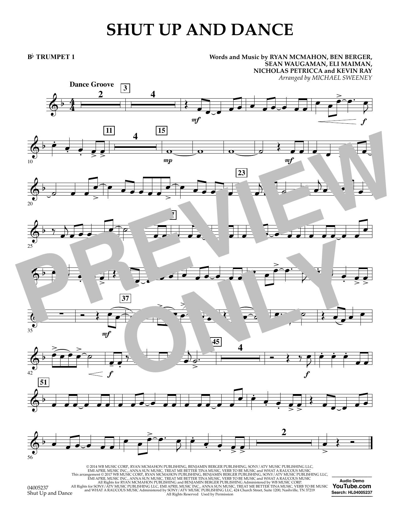 Shut Up and Dance - Bb Trumpet 1 (Concert Band)