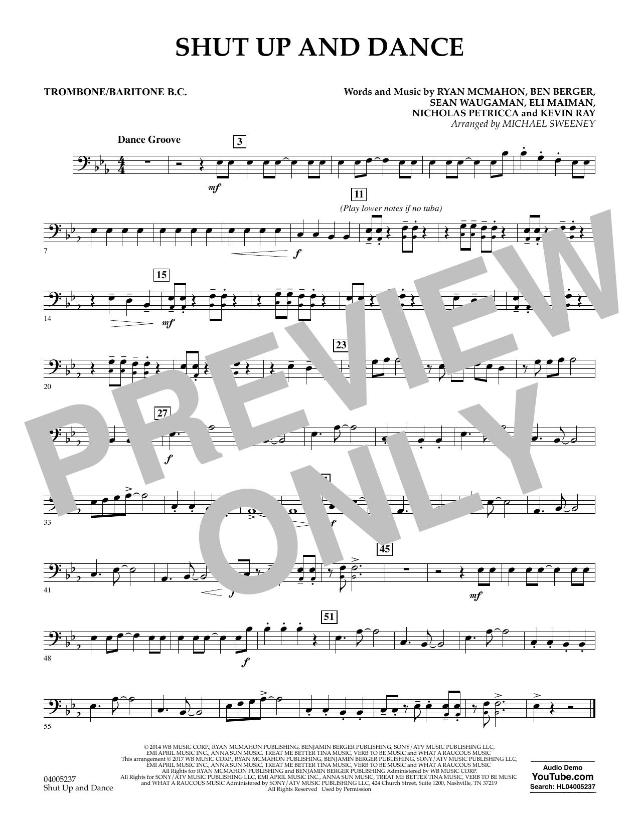 Shut Up and Dance - Trombone/Baritone B.C. (Concert Band)