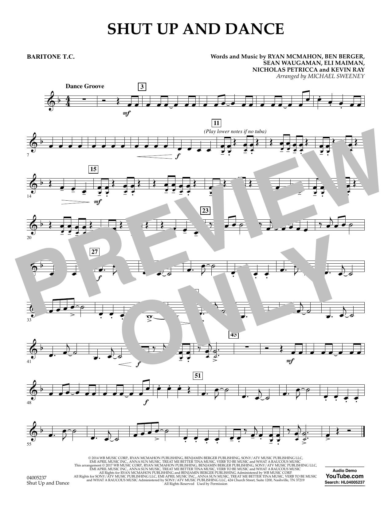 Shut Up and Dance - Baritone T.C. (Concert Band)