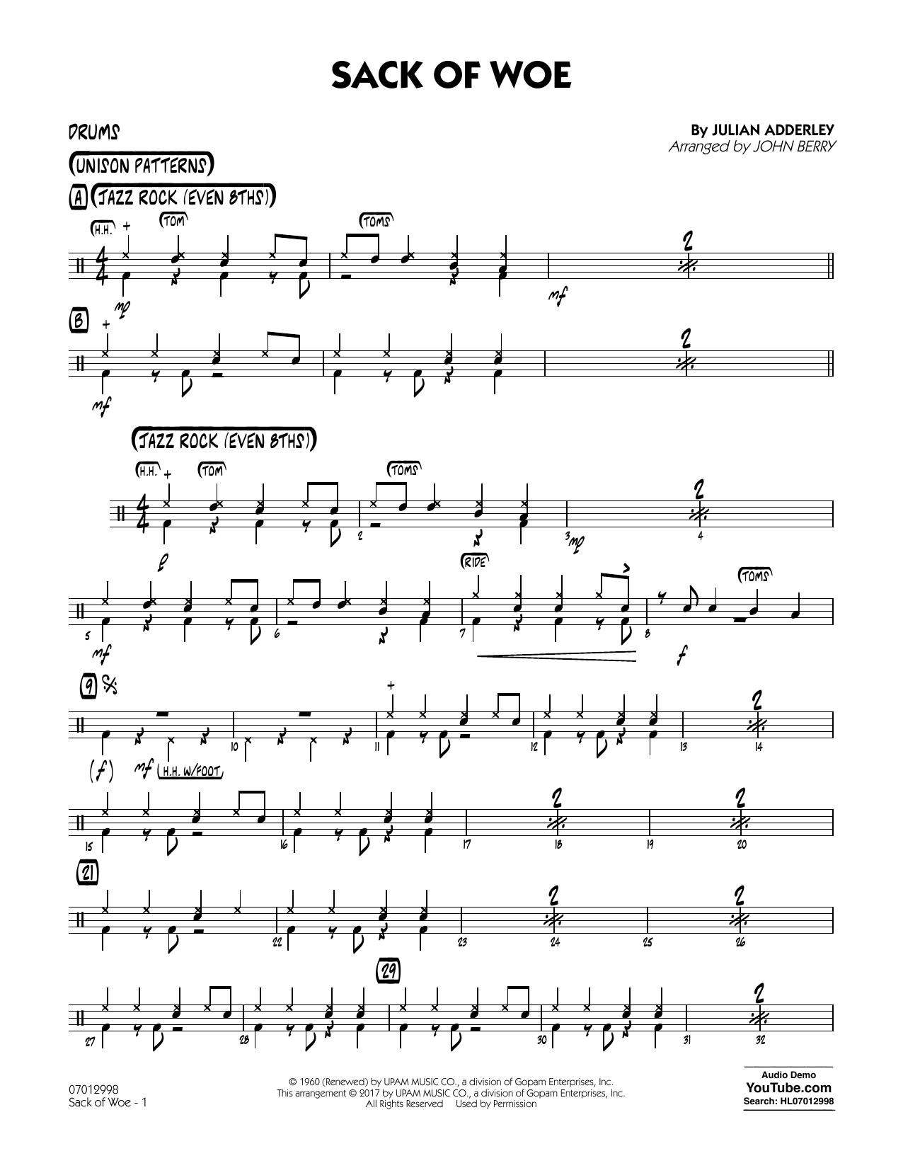 Sack of Woe - Drums (Jazz Ensemble)