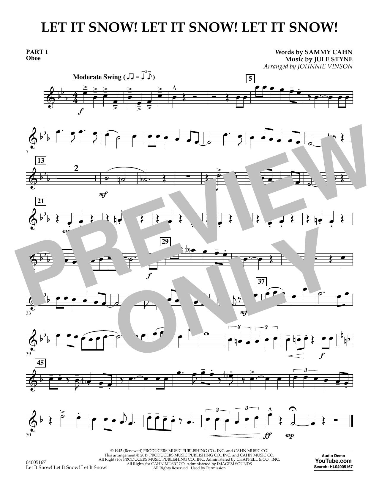 Let It Snow! Let It Snow! Let It Snow! - Pt.1 - Oboe (Concert Band)