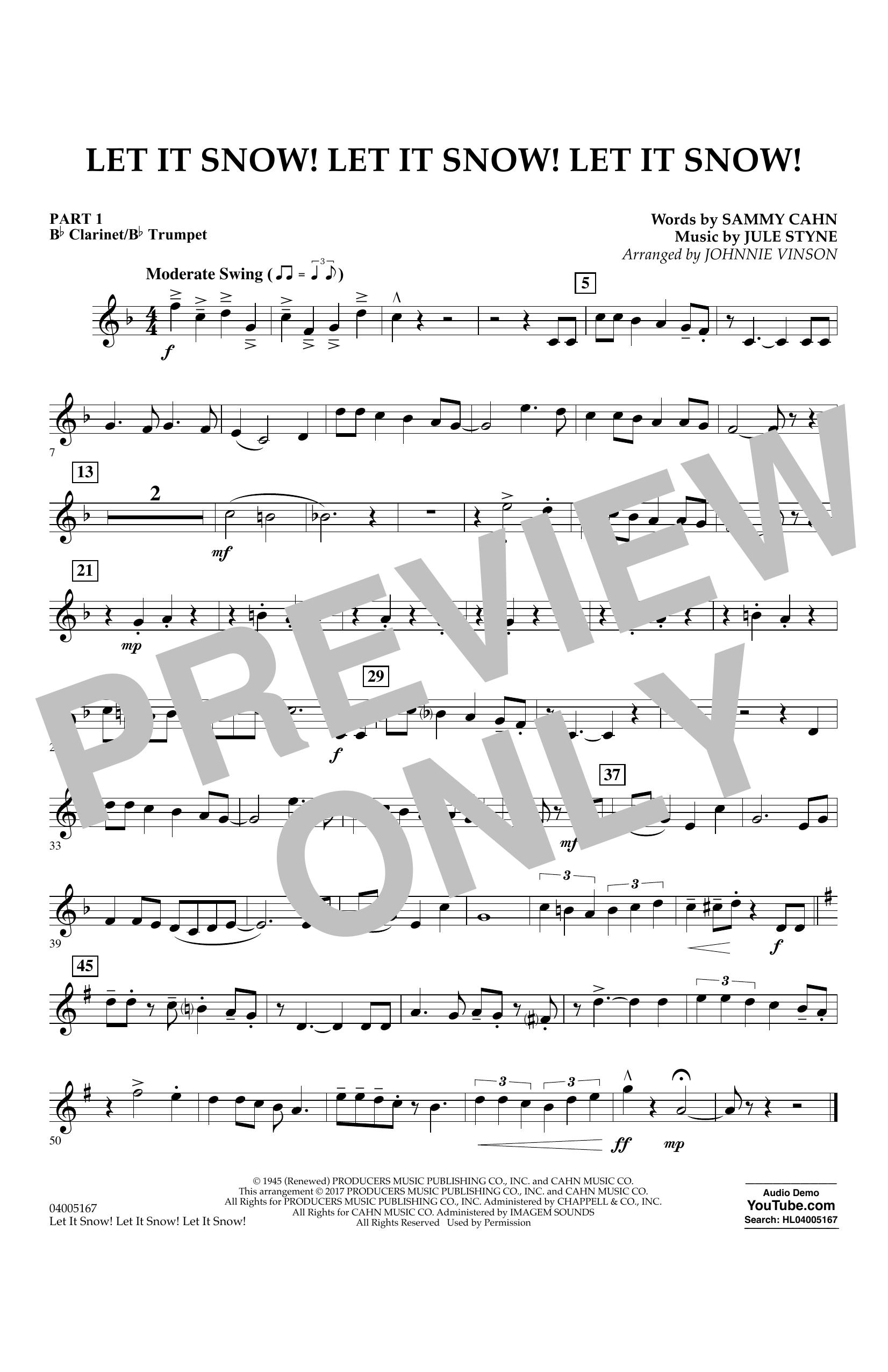 Let It Snow! Let It Snow! Let It Snow! - Pt.1 - Bb Clarinet/Bb Trumpet (Concert Band)