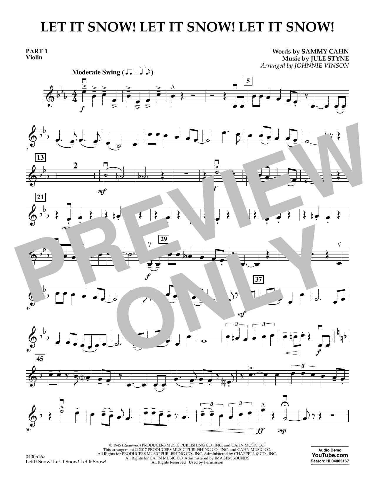 Let It Snow! Let It Snow! Let It Snow! - Pt.1 - Violin (Concert Band)