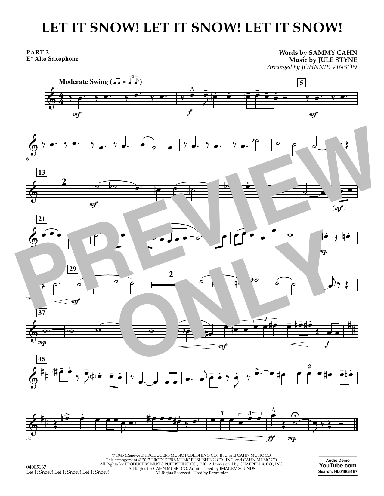 Let It Snow! Let It Snow! Let It Snow! - Pt.2 - Eb Alto Saxophone (Concert Band)